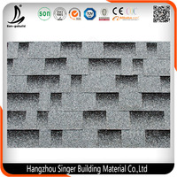 Competing Price High Quality Colorful Asphalt Roofing Shingles for Roofing Made in China