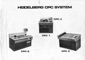 Parts Manual Heidelberg CPC System Part Number
