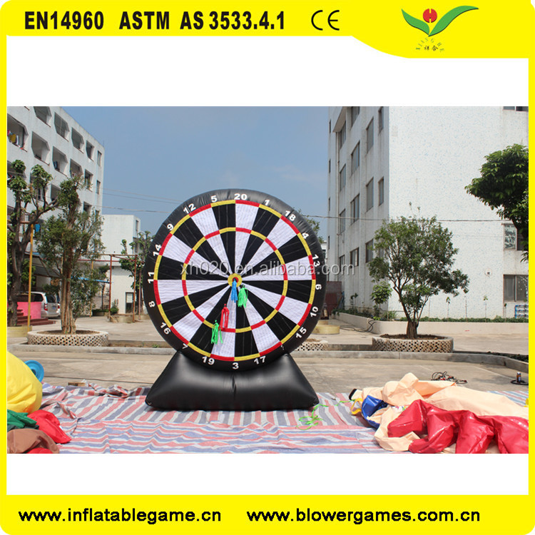 High quality outdoor sport game sealed air inflatable soccer dart / inflatable foot darts ball game for promotion