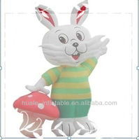 Charming white rabbit inflatable cartoon advertising model