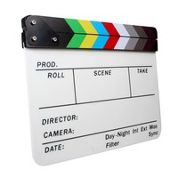 New Colorful Clapperboard Acrylic Movie Action Slate Clap Clapper Board Handmade