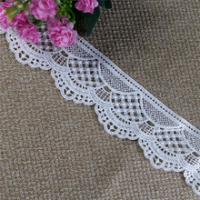 2018 One scalloped polyester crochet guipure lace trim dubai wholesale water soluble lace on sale