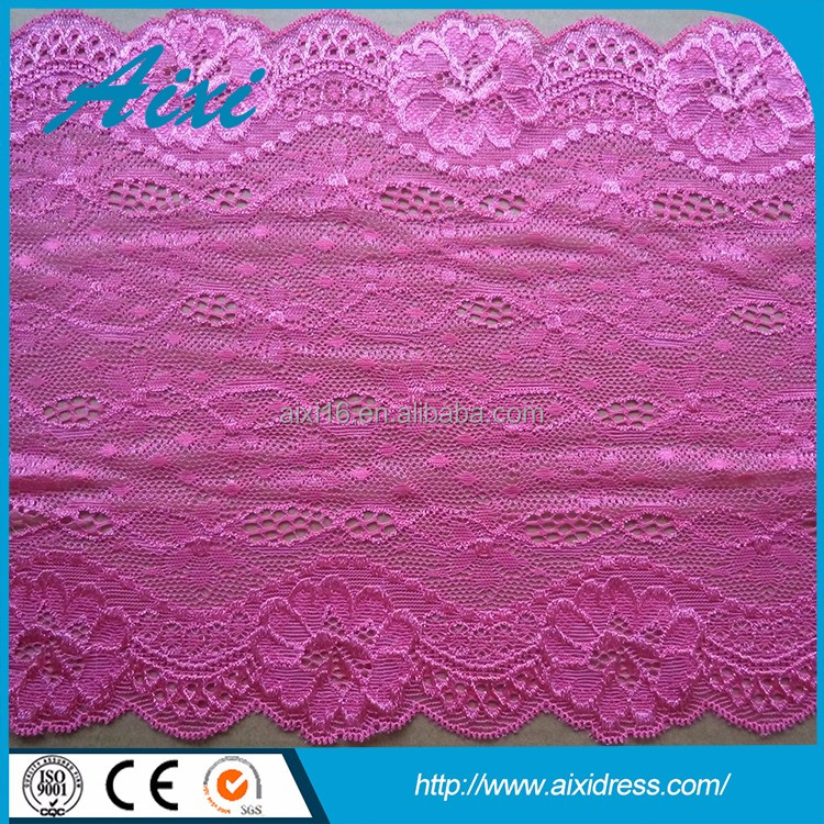 Wholesale high end silk lace fabric lace embroidery trim
