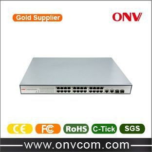 ONV company high-effective product 10/100M switch poe 24 port for security system IEEE802.3af for Hikvision IP Camera