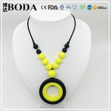 Custom Food Grade Silicone BPA Free Silicone Baby Teething Loose Beads For Necklace Making