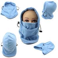 Thermal Fleece Balaclava Hood Police Swat Ski Bike Wind Winter Stopper Face Mask for Skullied &Beanies Out Door Sports