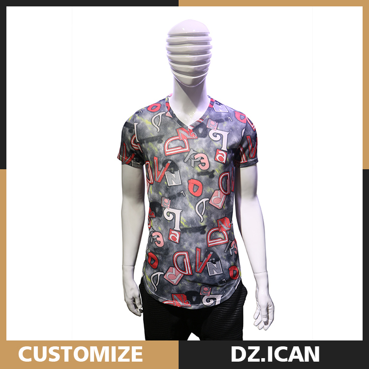 High End Clothing Big Neck Elongated Custom T-Shirt For Sale