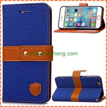 Jeans Cowboy Pattern horizontal buckle Wallet Leather Case For iPhone 7 7 plus