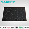 6 Burners built-in black ceramic induction cooker 60cm with front truning knob control