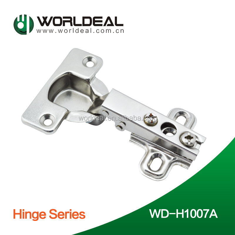 One way 35mm slide on hinge for kitchen cabinet hot sell iron steel hinge