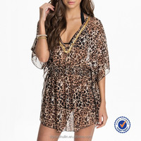 2015 summer new arrival sexy women kaftan www . full hot sexy photo com. adult ladies leopard beach kaftan high quality