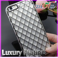 2016 hot sell 3d electroplate printing tpu phone back cover for iphone