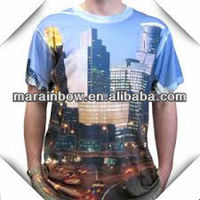 mens clothing & custom design dye all over sublimation printing t-shirt for men