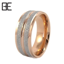 BE Fashion Antique Frosted Silver Rose Gold Titanium Power Magnetic Germanium Rings Jewelry