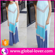 Women Sleeveless Long Maxi Dress Modern Indian Female Gown Dresses