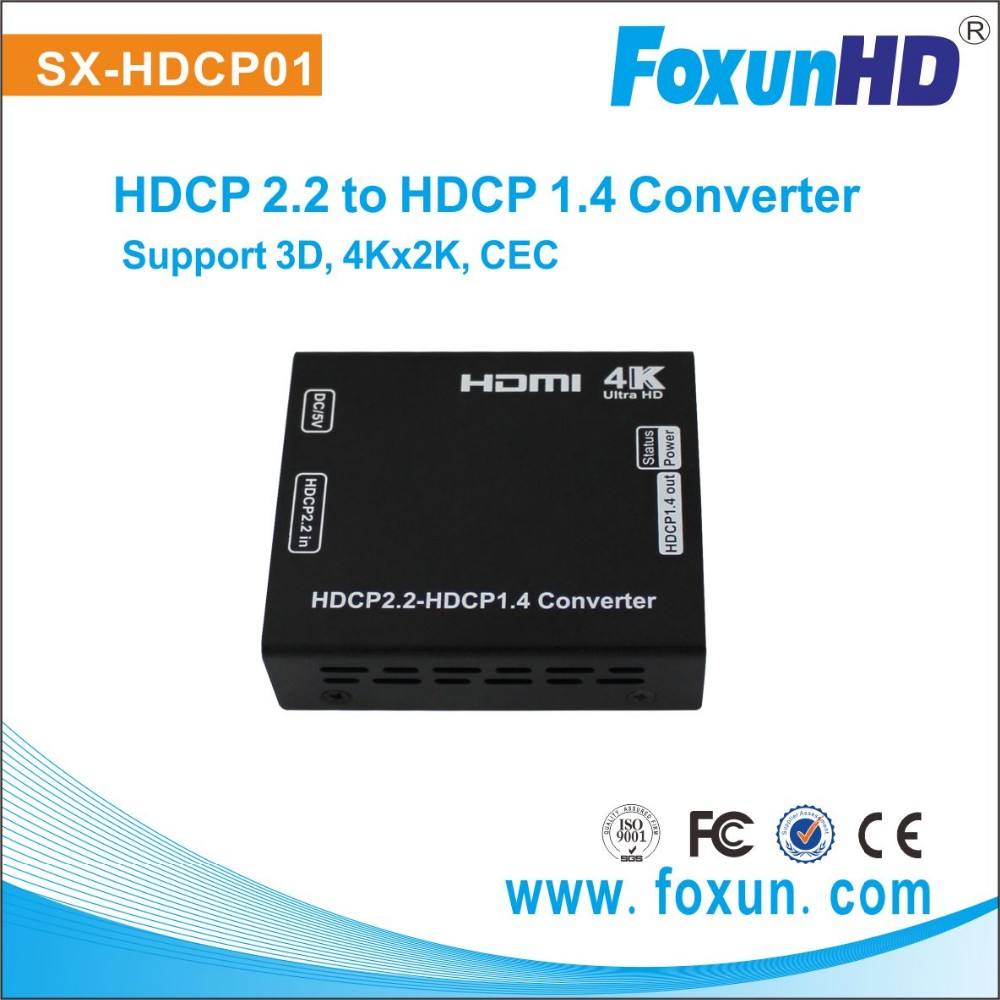4K2K@60Hz 3D Hdcp 2.2 Downgrade To 1.4 converter with Dolby DTS LPCM audio