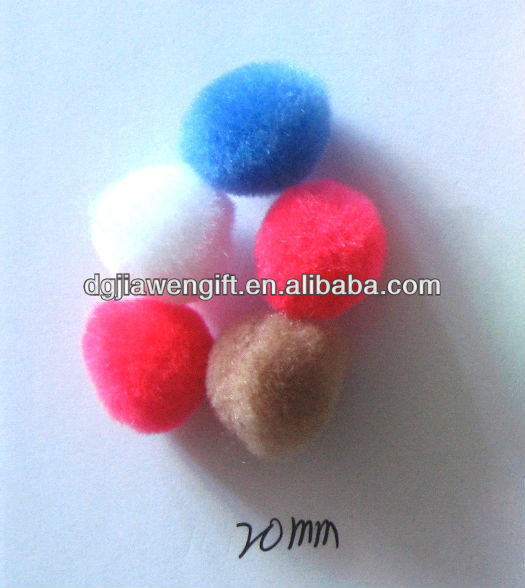20mm Craft accessories Full Round Acrylic pompons