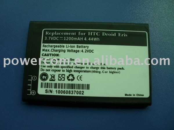 high quality hot selling battery SBPL0098002 3.7V 1200mah for HTC Legend,HTC G6.A6363,A6388.HTC Wildfire,G8