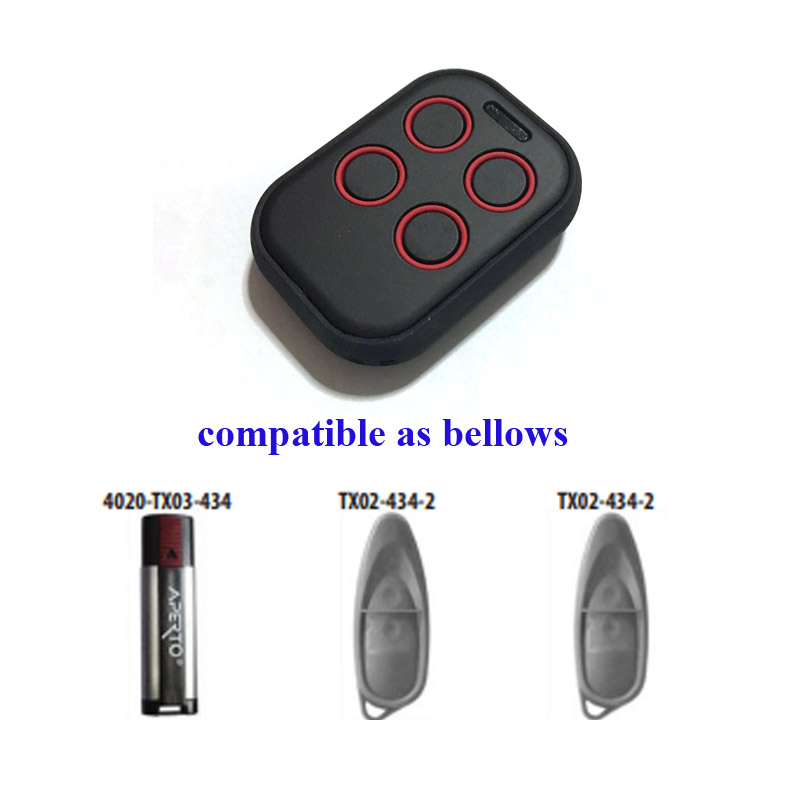 rolling code remote control transmitter key fob universal 280mhz to 868mhz multi frequency for APERTO door opener