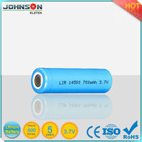 3.7v rechargeable 14500 aa lithium ion batteries