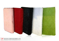 New style Latest fur and PU leather phone case for Apple Ipad mini