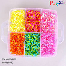 Girls Favorite Decorative Rainbow Hand Bracelet Mini Colored Elastic Fun Loom Rubber Band