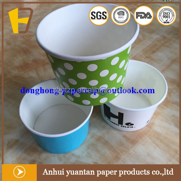China manufacturer eco-friendly icecream paper cups biodegradable