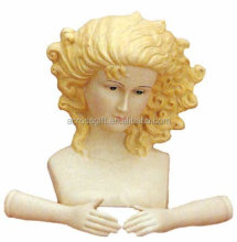 porcelain Angel Doll Head & Hands for Your Christmas Nativity Craft
