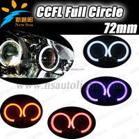ccfl angel eyes 72mm full circle type ccfl halo rings 4 rings with 2 inverters For Universal Cars