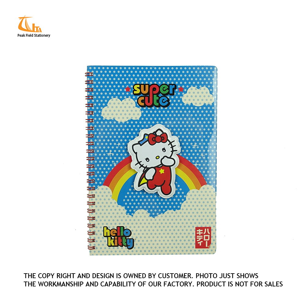 Wholesale new prdducts printing 4C cat cover planner notebook and cute design daily diary