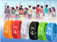 Time/Calorie/3D pedometer/ Temperature/Sleep Monitor led watch