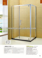 2015 rectangle aluminium alloy solid surface glass shower room