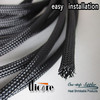black expandable braided nylon sleeve