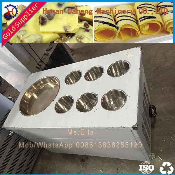 Cold Stone Marble Slab Top Fry Ice Cream Machine / Fried Ice Cream