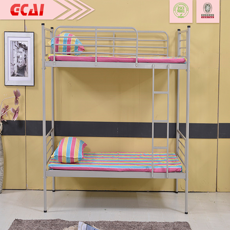cheap very strong simple design heavy duty modern double decker metal bunk bed