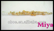 Player Type Semi Automatic Gold Plated Crystal Transparent Body Oboe