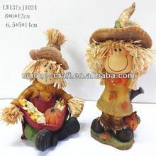 scarecrow harvest decoration polystyrene resin