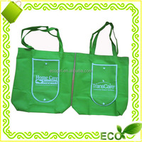 factory offer customized reusable recycled tote promotional grocery printing pp non woven folding shopping bag foldable