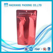 Stand up pouch clear bag with zipper aluminum foil zip lock bag