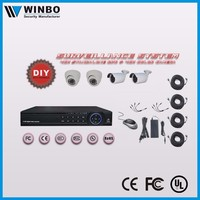 4ch Standalone HD AHD DVR cctv system kit wih dome camera and waterproof camera