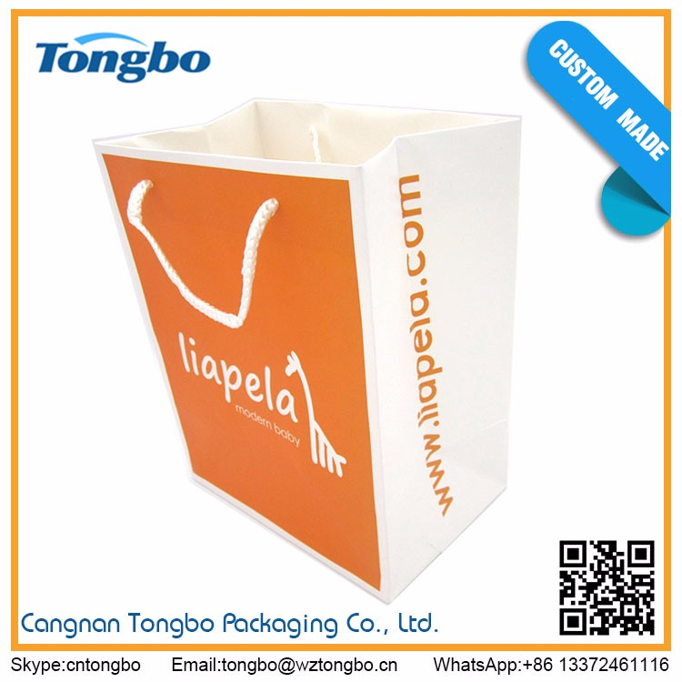 Wholesale china import shopping paper bags with your own logo