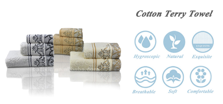 Hot Selling 100% Cotton Embroidery Lace Towel