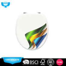 Zhejiang gold supplier open front mdf colorful toilet seat bidet