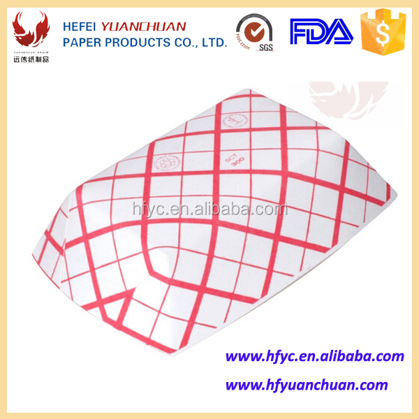 Molded Pulp custom printed paper food tray
