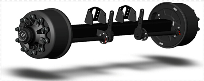new type L1 lift axle for trailers truck twist lock