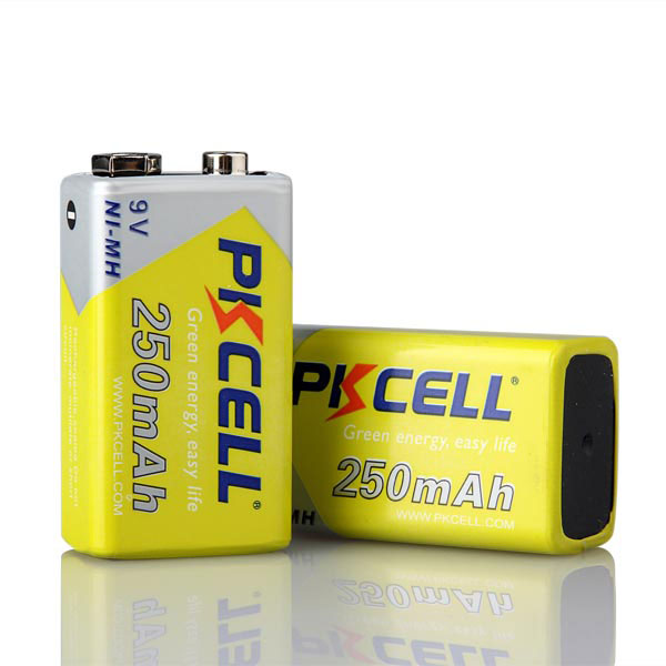 High Power Type NI-MH 250mAh 9V Rechargeable Battery for Toys