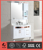Asian style PVC bathroom cabinet with mirror cabinet S7580-90