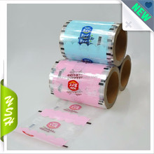 PET LDPE Food Packaging Translucent Plastic Film Rolls Laminating Automatic Packaging