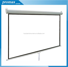 120inch manual projection screen with matte white fabric