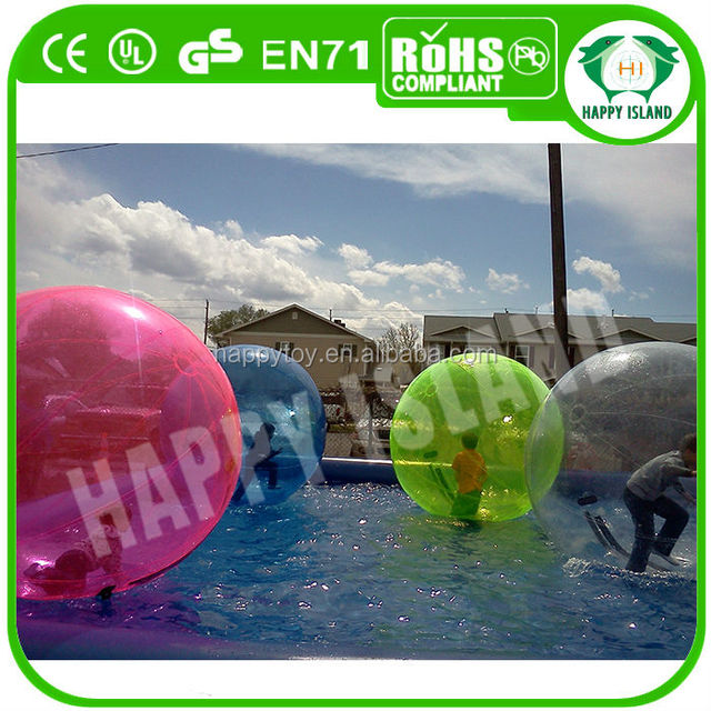 HI CE funny inflatable clear plastic water ball,water crystal ball